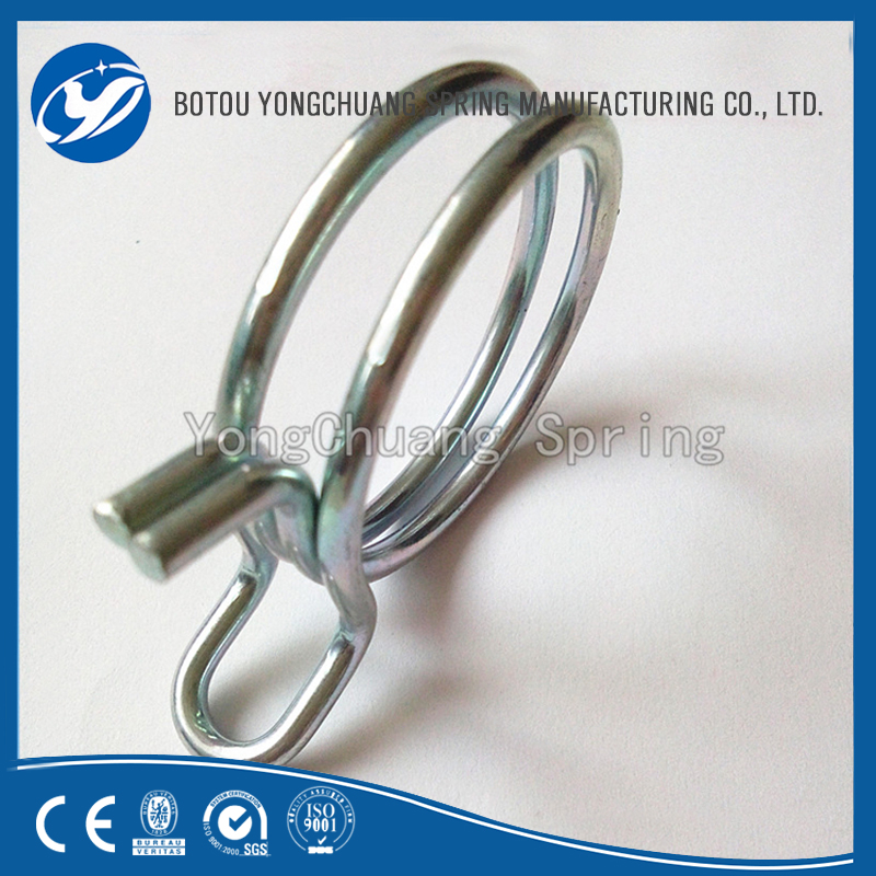 customized metal auto machine pipe fastener European type Wire hose clamp
