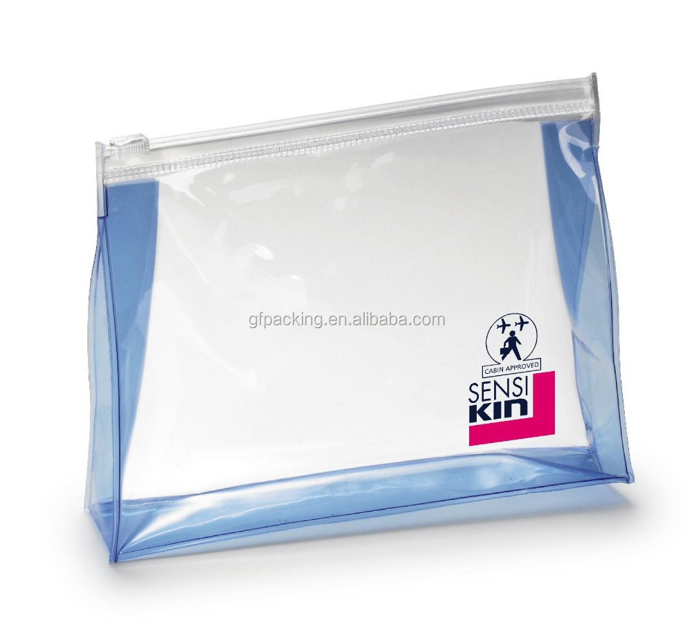 Promotional printed Clear plastic pvc zipper bag for packing bikini