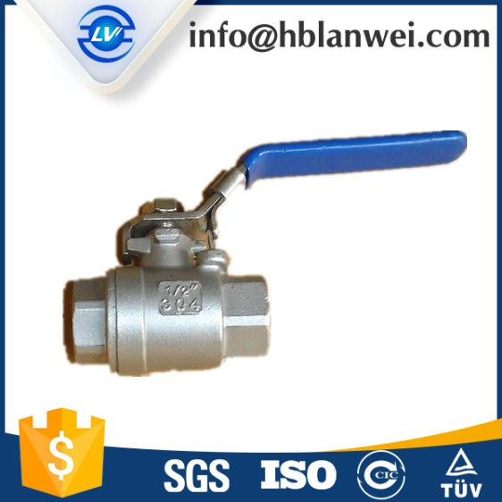 Medium weight SS ball valve for water meter with NPT for water