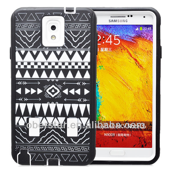 New For Samsung Galaxy Note3 N9000 Mobile Phone Silicone Hard Case 3 in 1 Tribal Retro Case