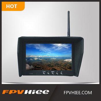 "HIEE Integrated Quadcopter Fpv Monitor RM5832: 5.8G 32CH NO BLUE SCREEN 7"" Quadcopter Fpv Monitor with Sunshade for FPV System"