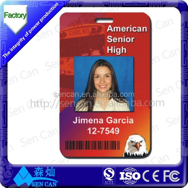 Sample Employee Id Cards With 125Khz Frequency For Access Control
