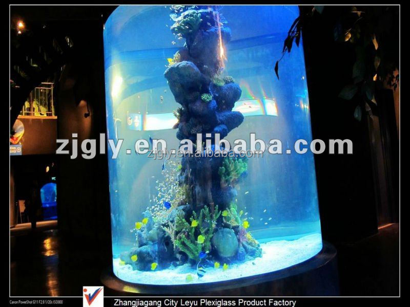 custom cylinder acrylic aquarium fish tank