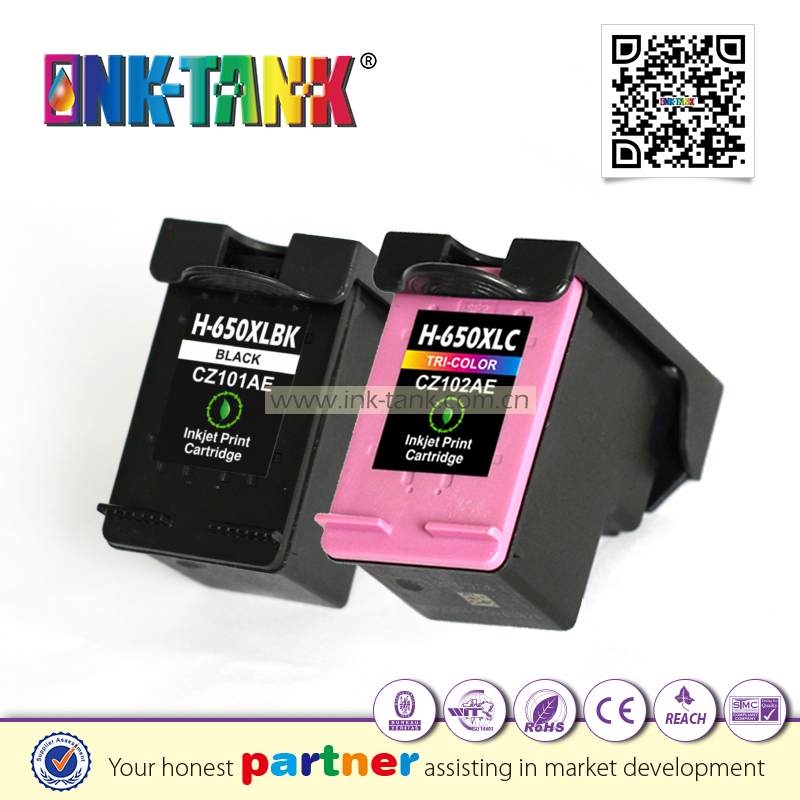 CZ101AE / CZ102AE ink cartridge for hp 650xl used Deskjet Ink Advantage 4515 4645