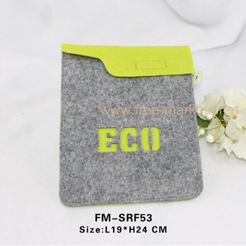 Premium ECO friendly recycled felt laptop bags for PAD