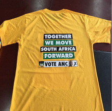 African wear election campaign photo printing 100%cotton t-shirts o neck