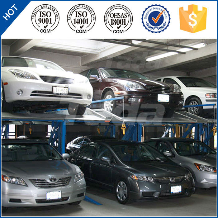Electric Platform Stacker 2 Level Parking System Lift Simple Tilting two Post Residential Car Lift