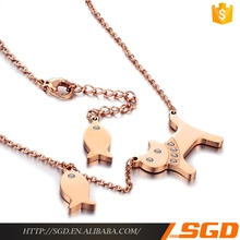 animal shaped jewelry made in china fashion dog and fish pendant