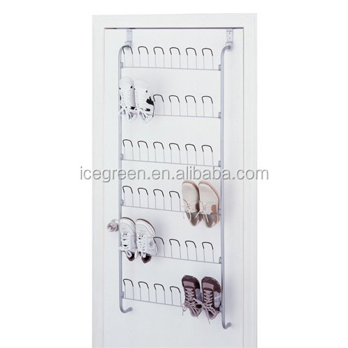 Icegreen Over-The-Door 18-Pair Metal Wire Shoe Rack