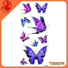 3D Newest Dream Butterfly Temporary Tattoo Sticker,Large Temporary Tattoos,3D Temporary Metallic Tattoo Sticker