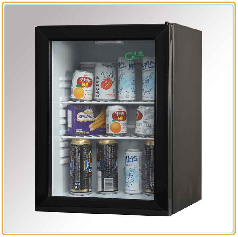 40L hotel no compressor mini absorption refrigerator with glass door