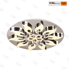 Decorative flower led lights dimmable led modern ceiling lamp for home
