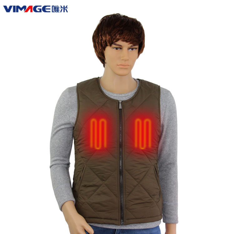 High Quality Washable Mens 5V 2A Battery Operated Heated Vests