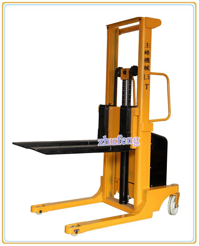Apilador Elevador Eléctrico de patas anchas semieléctrico 1.5 ton ...