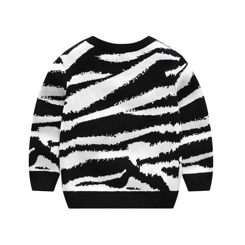 Cebra patrón de tejer suéter grueso Jersey para bebé niña-Suéter ...