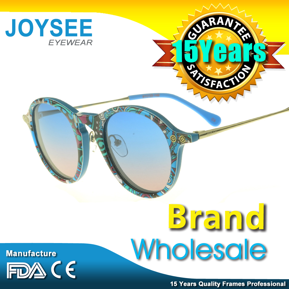 Free Sample! 2016 WENZHOU FACTORY CE/FDA Italian Brand Name Five Colors Stylish Outdoor Acetate Sunglass