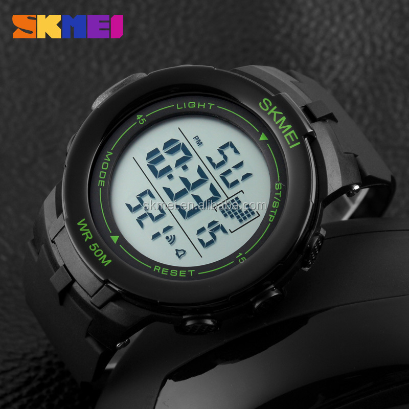 Alibaba plastic digital sport watches skmei 2016 manufacturer china custom brand watch wholesale
