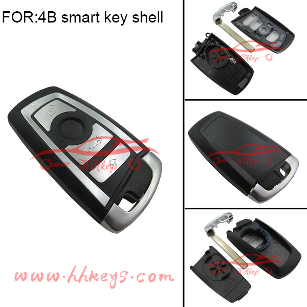 BW 7 series car key shell 4 buttons smart key case
