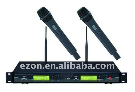 2 handed UHF wireless microphone