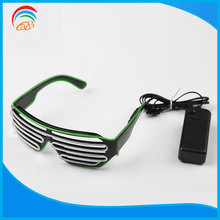 High Luminance Light Up Fantastic Shutter Sound Activated Party El Glasses