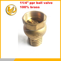 Arabia market forged full brass check valve with steel strainer all size