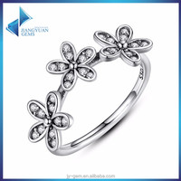 flowers 925 jewellery cute silver ring for girls