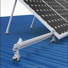 Adjustable roof brackets for solar panel mounting system
