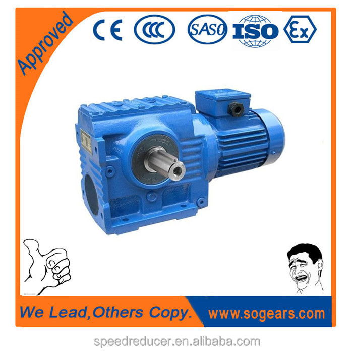 High bearing capacity vertical mounted industrial helical worm gearbox S87