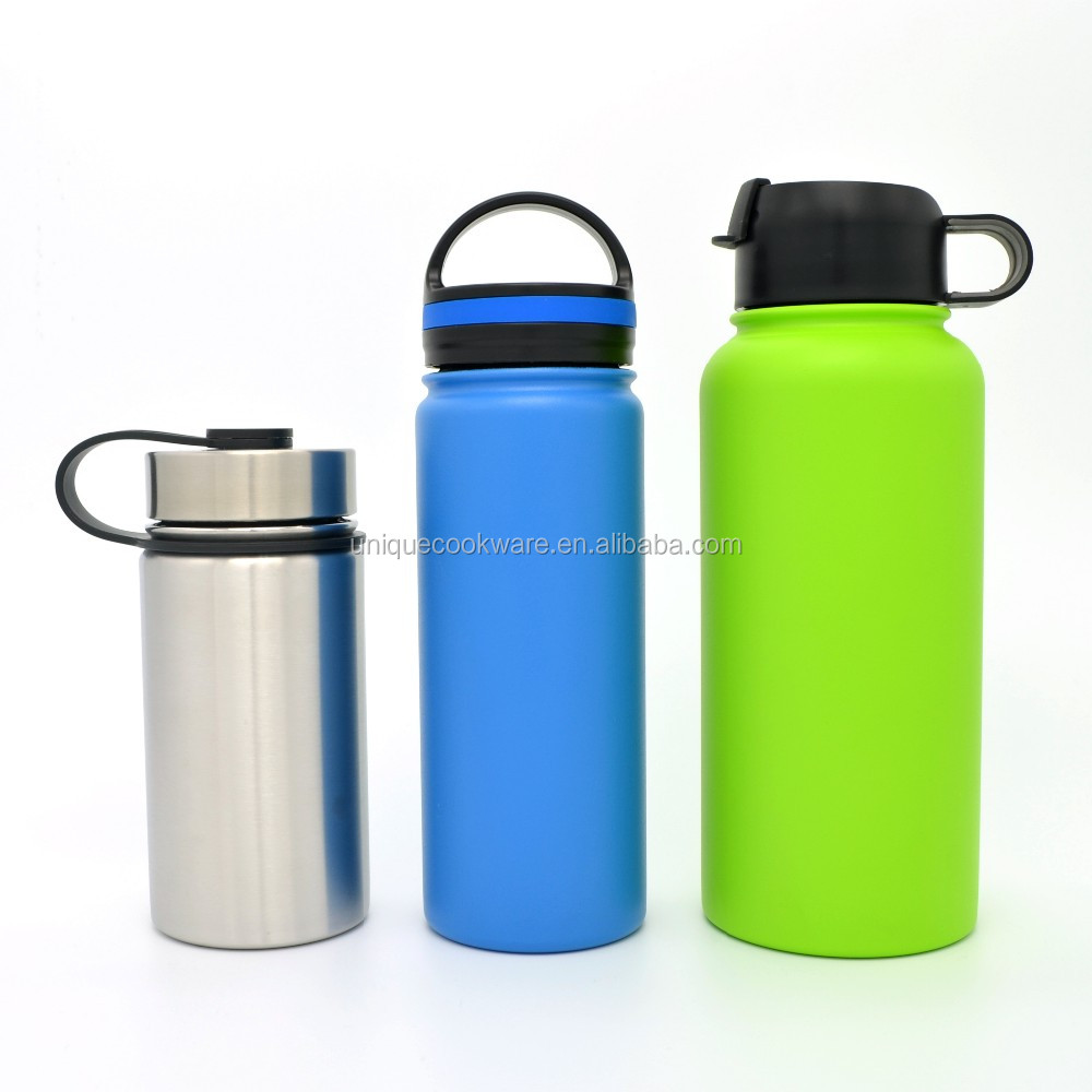 Vacuum Insulated Water Bottle Flip Cap with handle