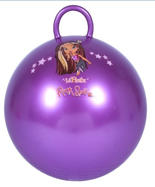 PVC Round Handle Toy Jumping Ball