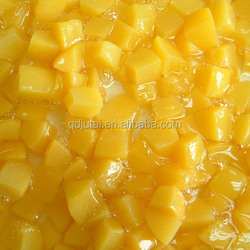 fresh canned yellow peach dices,canned fruit food