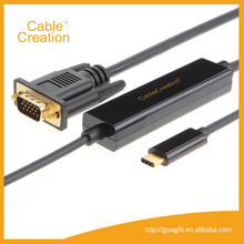 6ft USB Type C (USB-C) to VGA Male to Male Cable (DP Alt Mode)