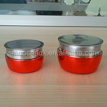 15g plastic drum jar red cream jar
