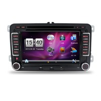 In Dash Navigation Car DVD Player Stereo GPS HD 2DIN Radio for VW W Free Map