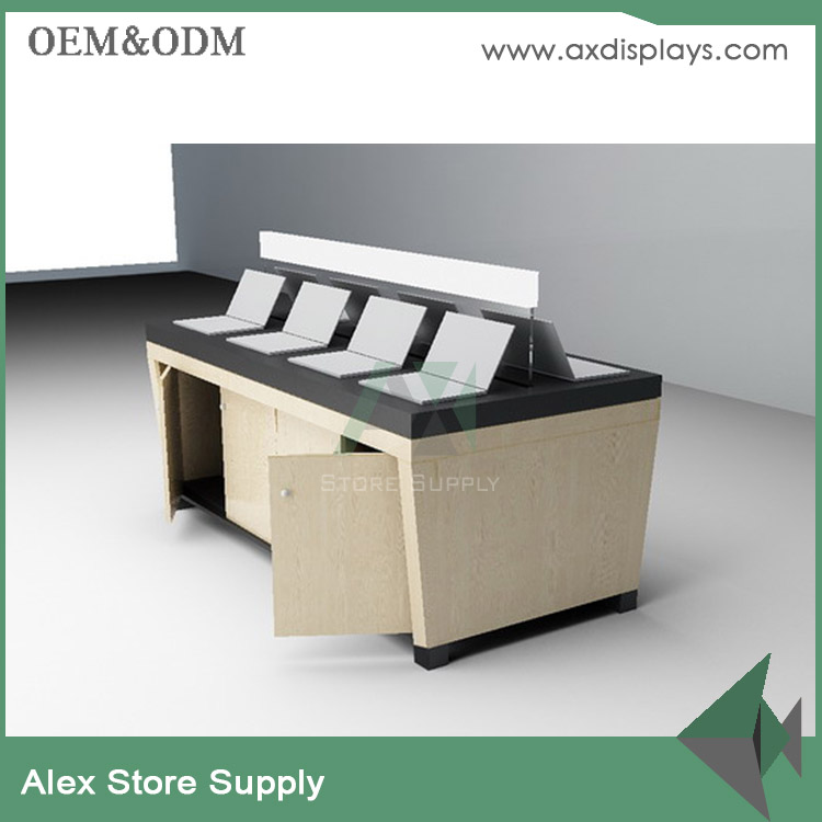 wholesale mdf computer and mobiledisplay table design