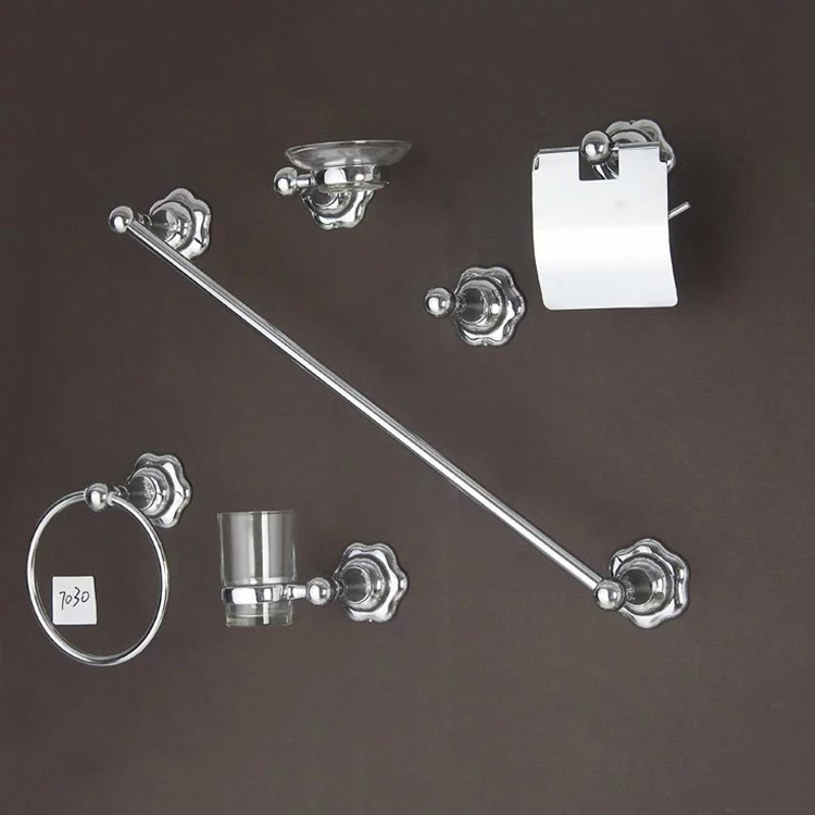Unique chrome plated bathroom accessory set, toilet hardware
