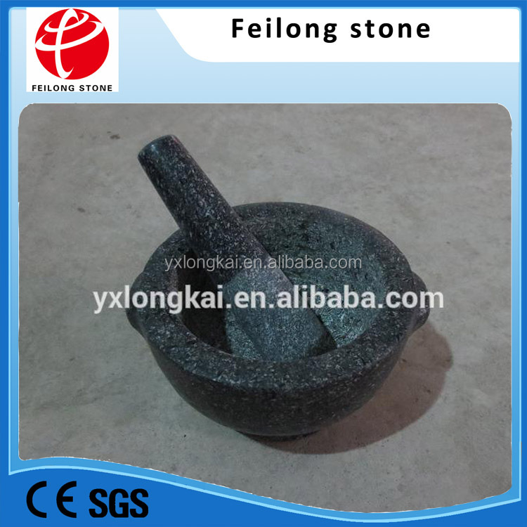 Polished Granite Stone Mortar and Pestle