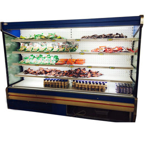 Commercial Fridge for Vegetables and Fruits Refrigerated Cabinets without Glass Door