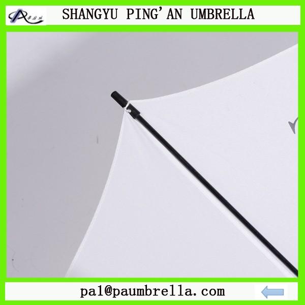 White whole fiberglass frame golf umbrella foam handle with logo printing