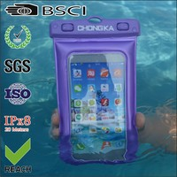 Factory Price 6 inch PVC waterproof dry bag for mobile phones/waterproof phone case