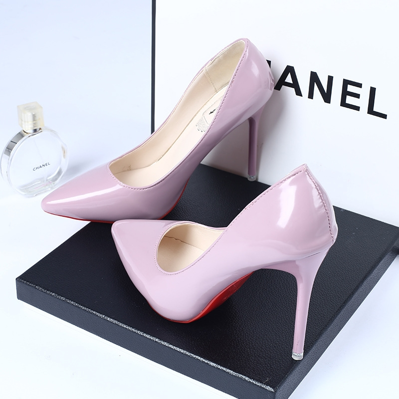 2016 Women Wedding Party Shoes Female Pumps Sexy Red Bottom Pointed Toe High Heels Shoes Casual Lady Evening Dress Shoes