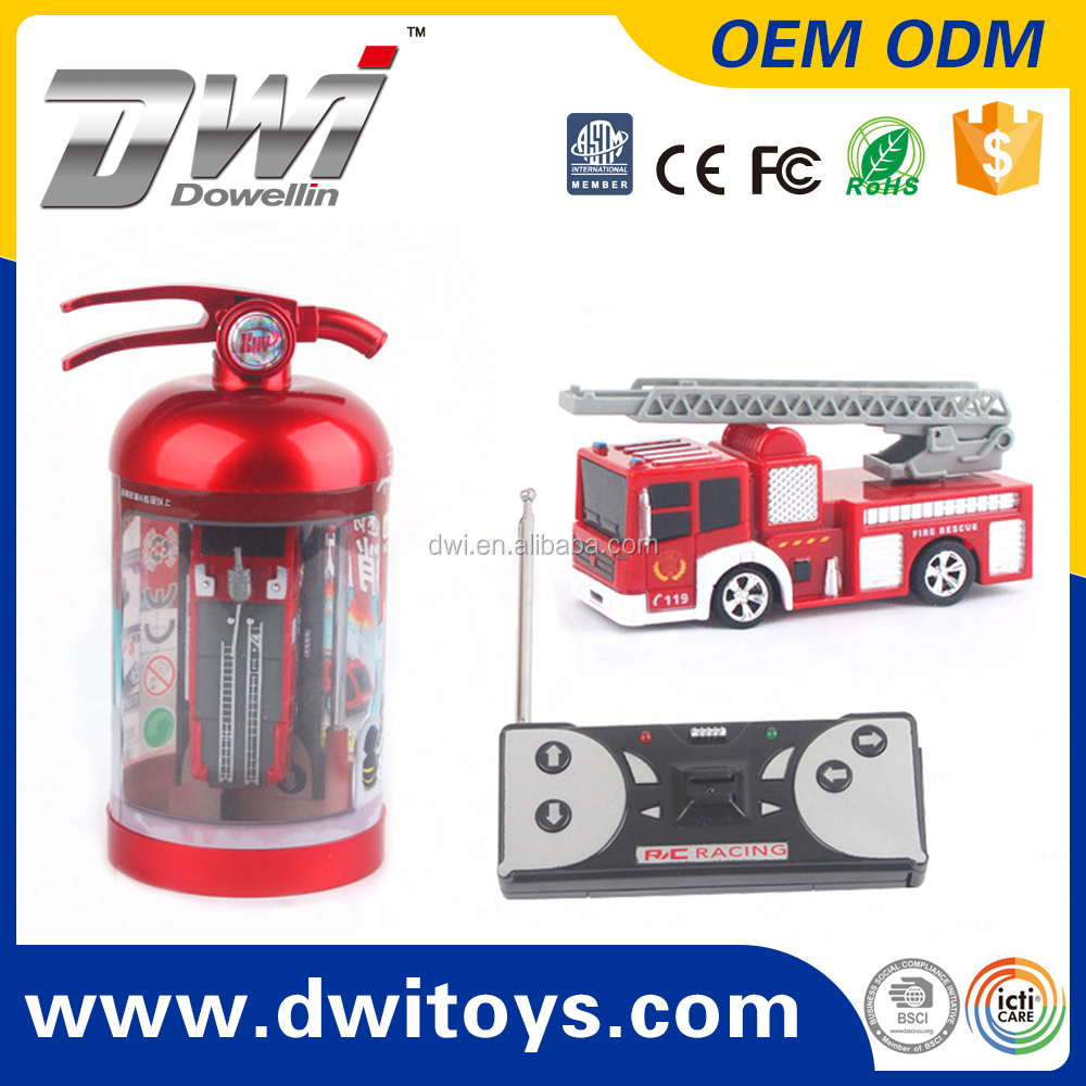 DWI 4CH Mini RC Fire Truck Electronic Extinguisher Can Small Car