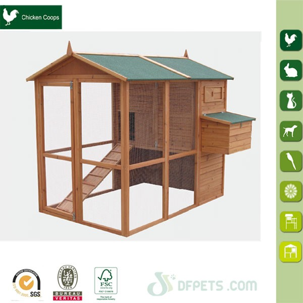 DFC015 Industrial Commercial Wooden Chicken House For Layers