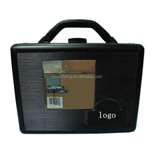 Stripe pattern pvc panel surrounded tool short gun case with black halfmoon aluminum frame RZ-LTO081-2