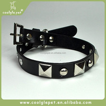Nail Studded Chain Pet Collar Genuine leather Country Western Dog Collars
