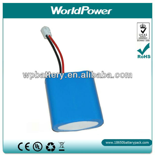 search light battery 3.7v 6600mah rechargeable li-ion battery