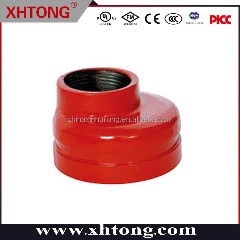 2016 Hot Sale MF/ UL Certificated Ductile Iron Threaded Eccentric Reducer other type pipe fittings