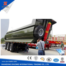 3 axle hydraulic dump trailer-dumper lorry series / tri-axle side dumper truck semi trailer