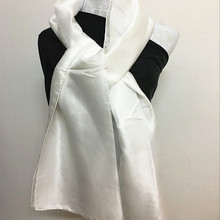 100 pure white silk scarf for painting
