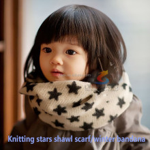 New 2015 knitted star neck warmer custom printed shawl bandana cashmere scarf for women
